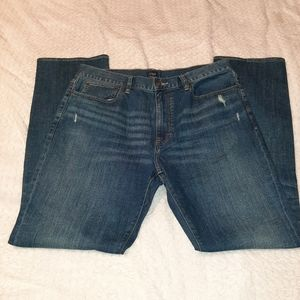 J Crew The Bleecker Distressed Jeans 36X34 NWT